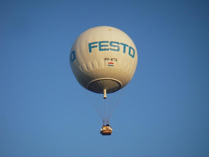 De ballon die het moet gaan doen