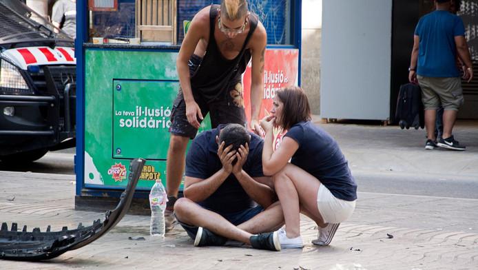 De Ramblas na de aanslag donderdag.