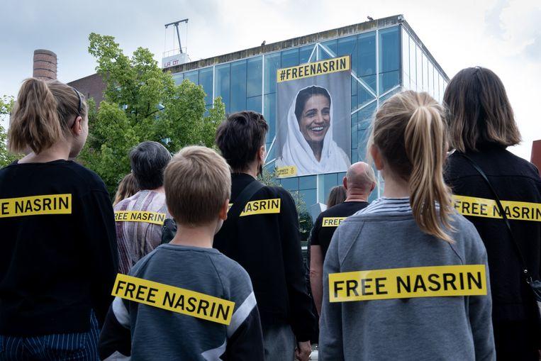 MECHELEN Amnesty International voert actie voor Nasrin Sotoudeh, één van de bekendste mensenrechtenadvocaten van Iran.