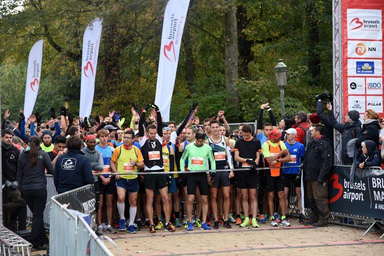 start halve marathon Brussel