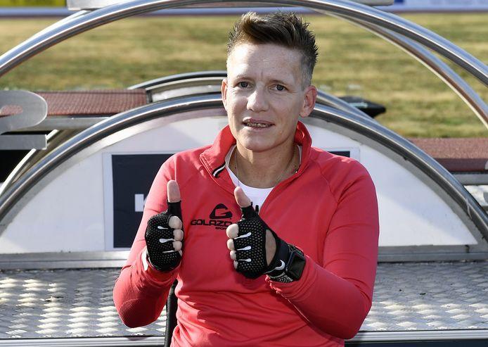 Marieke Vervoort afgelopen zomer, tijdens de Nacht van de Atletiek in Heusden-Zolder.