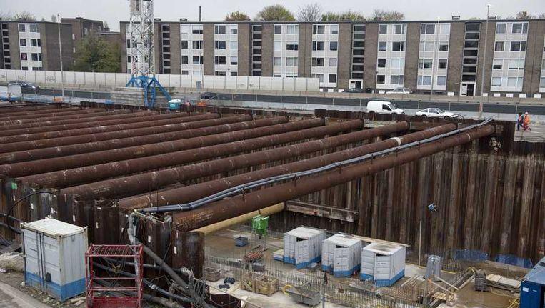 De bouwput van de A2-tunnel bij Maastricht. Beeld anp