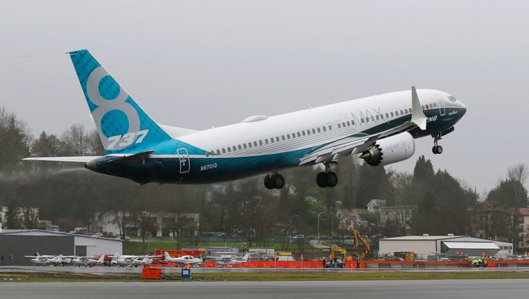 Een nieuw model Boeing maakte eind januari een eerste testvlucht in de Verenigde Staten. Beeld AP