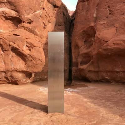 Un mystérieux monolithe découvert dans le désert de l'Utah
