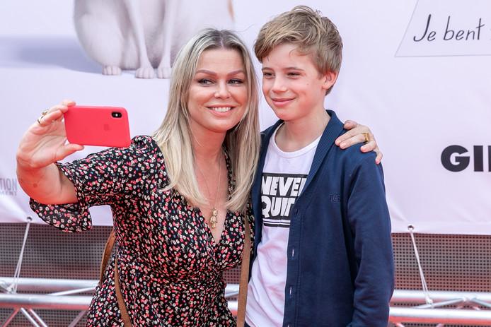 Bridget met zoon Mees.