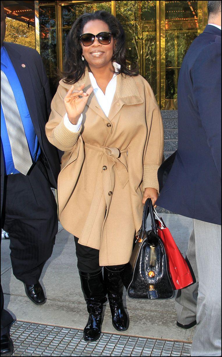 Winfrey na een lunch in het Trump International Hotel in New York. Beeld null