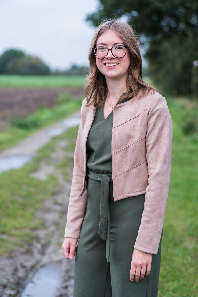 De 24-jarige Hanne Lamberts mag zich de nieuwe voorzitter van Groen Kapelle-op-den-Bos noemen.