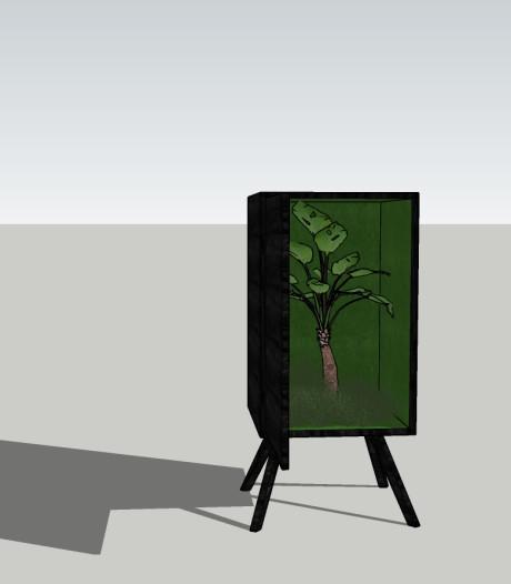 'Zelfherstellend' kastje van Osse meubelmaker (18) naar Design Week Milaan