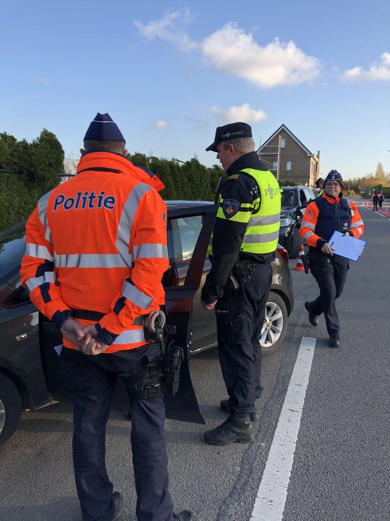 De Belgische en Nederlandse politie hielden samen een actie aan de grenzen.