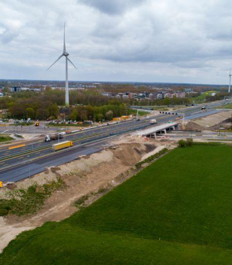 Verbreding van A1 richting Twente zorgt vanaf dit weekend voor vertraging en omrijden