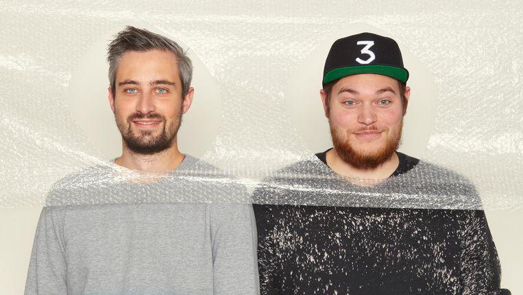 Luuk van de Put (links) en Jurre van de Ven, winnaars van de Creative Press Challenge. Beeld Daniel Cohen