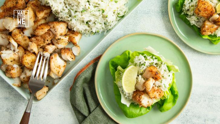 Wat Eten We Vandaag: Sla-bakjes met Mexicaanse vis