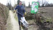 Burgemeester Jo Roggen raapt tien dagen lang tien minuten zwerfafval
