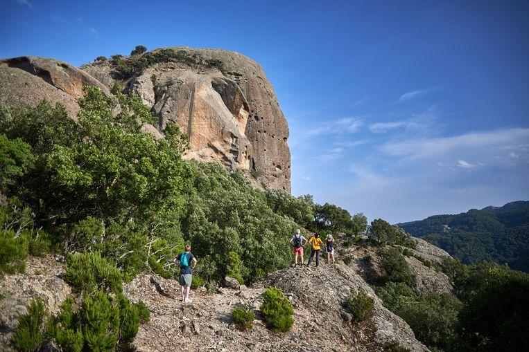 In Calabrië hopen ze dat de Pietra Cappa een grote toeristische attractie wordt. Beeld Theo Stielstra