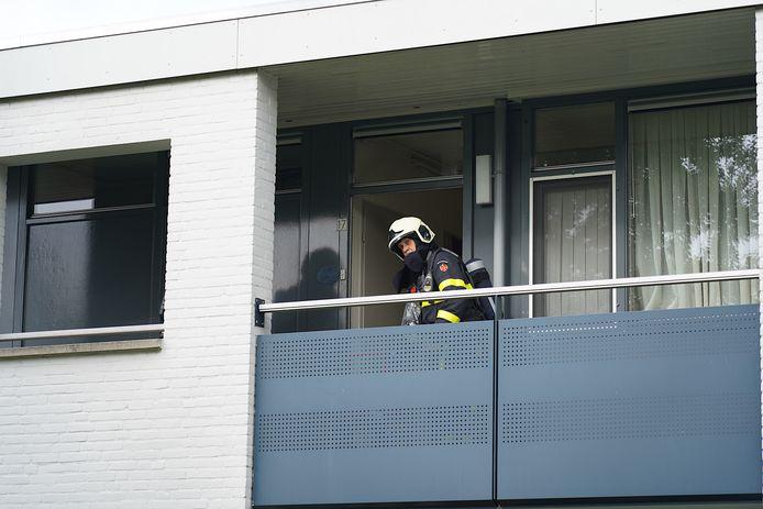 Keukenbrand aan de Aertsenstraat in Dongen.