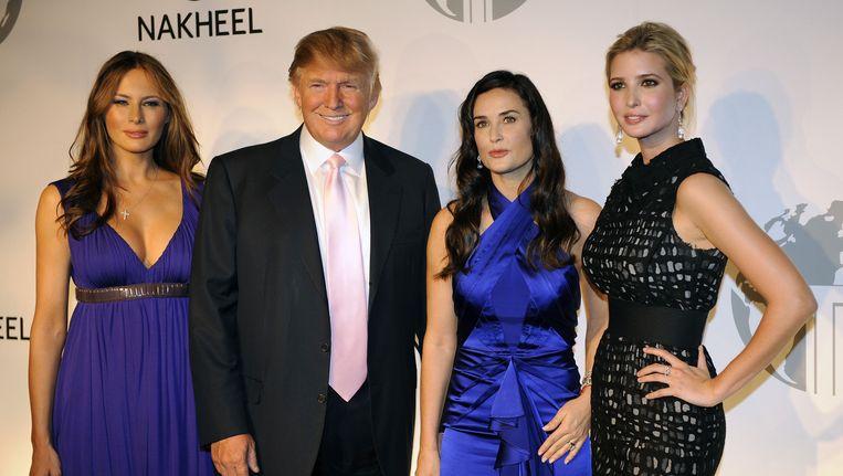 Trump kondigde in 2008 op een feest in New York de bouw van een Trump-hotel in Dubai aan, maar dit kwam nooit van de grond. Beeld afp