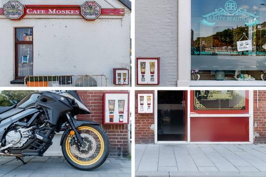Kauwgomballenautomaten: linksboven: Meerseldreef, rechtsboven: Breda, Sophiastraat, linksonder bij motorhuis Seppe in Bosschenhoofd, rechtsonder: bij Kota Radja in Steenbergen