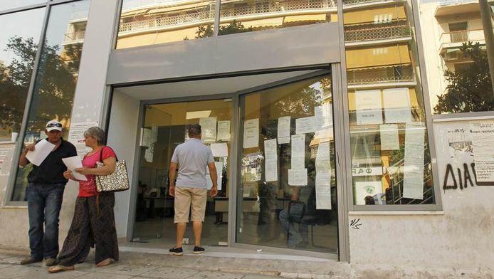 Een uitzendbureau in Griekenland, vandaag.