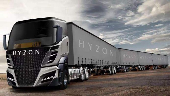 Waterstoftruck van Hyzon Motors