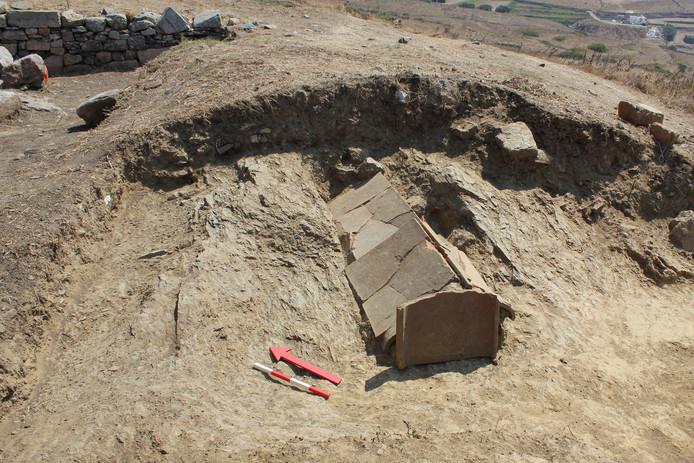 Foto ter illustratie. Afgelopen week gaven Griekse onderzoekers ook al beelden vrij van gevonden graven op het eiland Tinos.