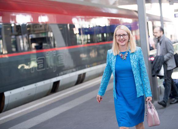 Margarete Schramböck, de Oostenrijkse minister van Economie.