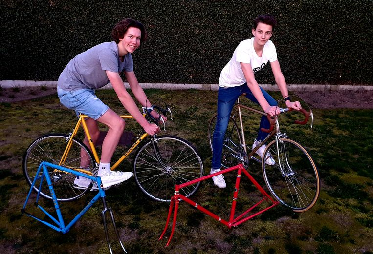 Tommy Laeremans en Kobe Siemons organiseren een retrofietsbeurs in Rijkevorsel.