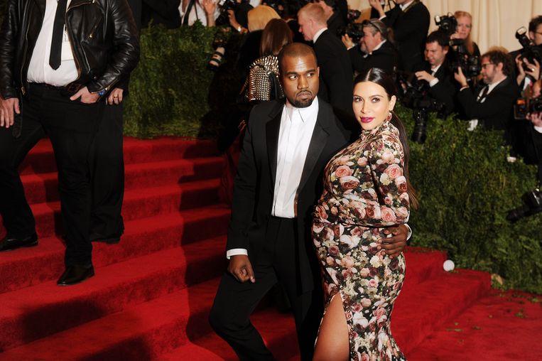 Kanye West and Kim Kardashian in 2013. Beeld Getty