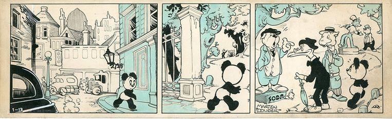 Fragment uit Panda en de Wereldverbeteraar (1949). Beeld null