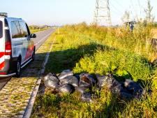 Tientallen zakken hennepafval gedumpt in Dordrecht