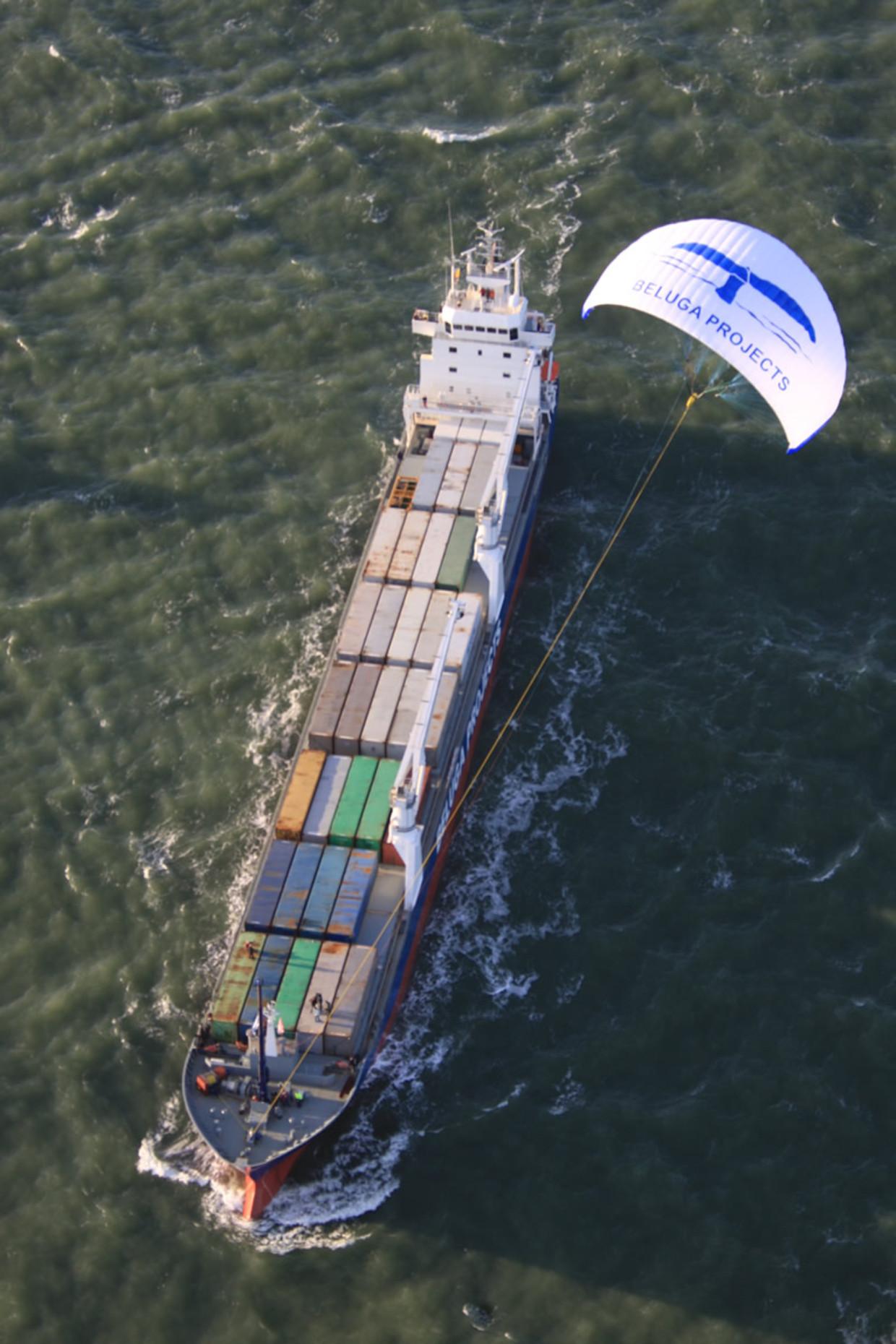 De Beluga Skysails is het eerste commerciële vrachtschip met een kite.