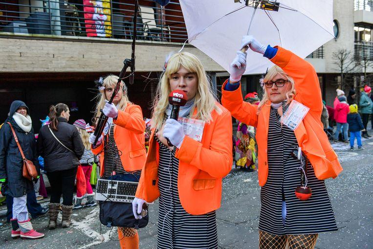 Op Aalst carnaval struikelde je over de Bo Van Spilbeeck-lookalikes.