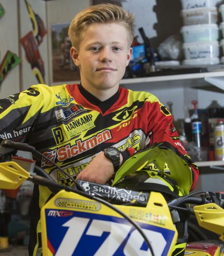 Motorcrosstalent Stan (15) uit Den Ham hoopt in de voetsporen van Jeffrey Herlings te treden