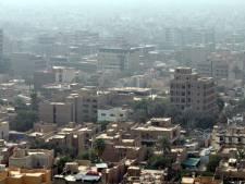 Chute d'une roquette dans la Zone verte à Bagdad