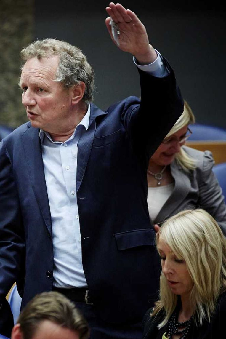 GroenLinks-leider Bram van Ojik in de Tweede Kamer Beeld anp