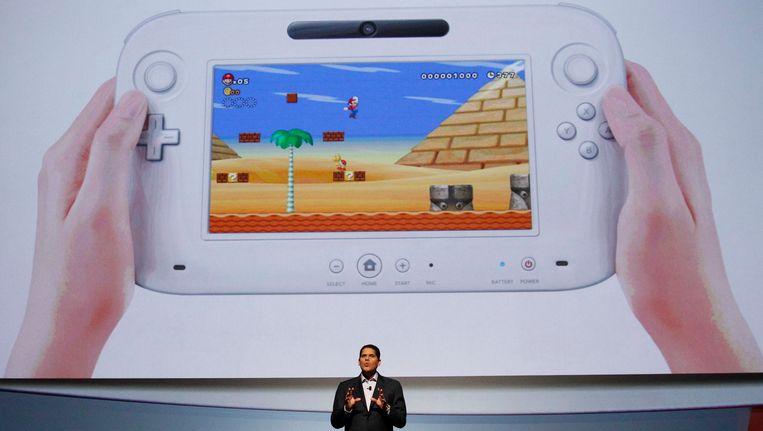 Reggie Fils-Aim, de president van Nintendo, presenteert de nieuwe Wii. Beeld reuters