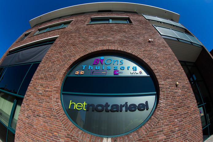 Het kantoorpand van thuiszorgbedrijf Bions en het failliete thuiszorgbedrijf Solace ATC in Rijssen.