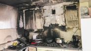Keuken brandt uit in Kleemputtenstraat