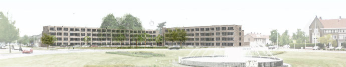 De plannen van Wooninc. voor de vervangende nieuwbouw aan het Floraplein in Eindhoven gaan niet door. De bestaande flats worden gerenoveerd.