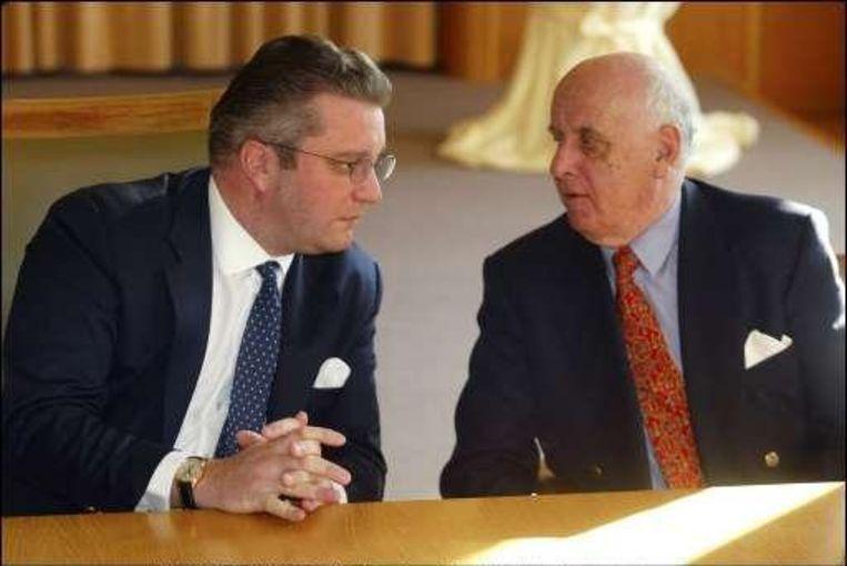 Prins Laurent met Etienne Davignon.