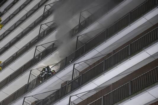 Bij de brand was sprake van veel rookontwikkeling.