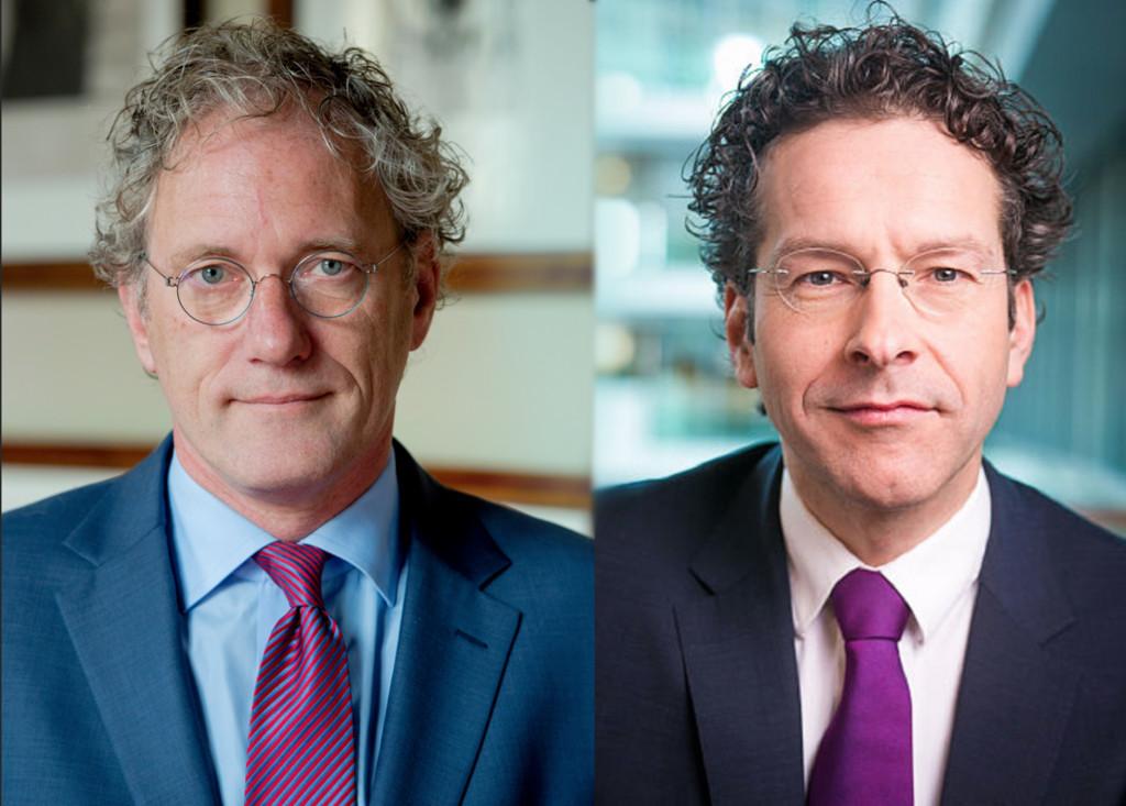 Thom de Graaf (l) en Jeroen Dijsselbloem (r).