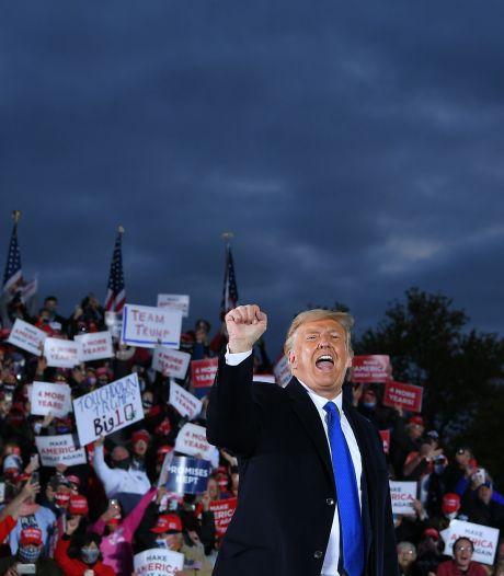 Onvermoeibare Trump zet eindsprint in