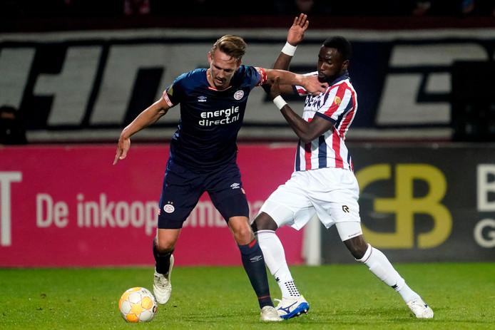 Luuk de Jong in actie tegen Willem II.