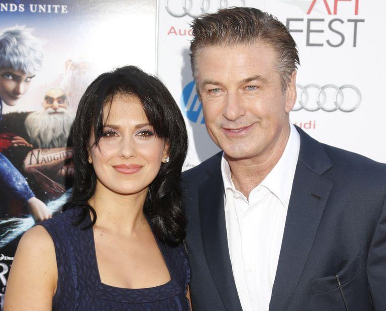 Acteur Alec Baldwin en zijn vrouw Hilaria Thomas.