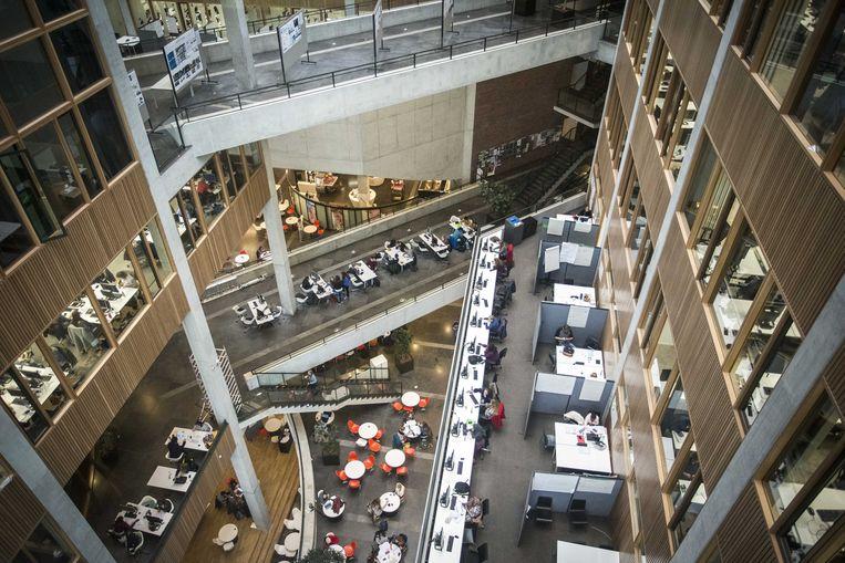 Studieplekken in de universiteit van Wageningen. In de Keuzegids Universiteiten van 2016 is de universiteit voor de twaalfde keer op rij uitgeroepen tot de beste universiteit van Nederland.  Beeld ANP