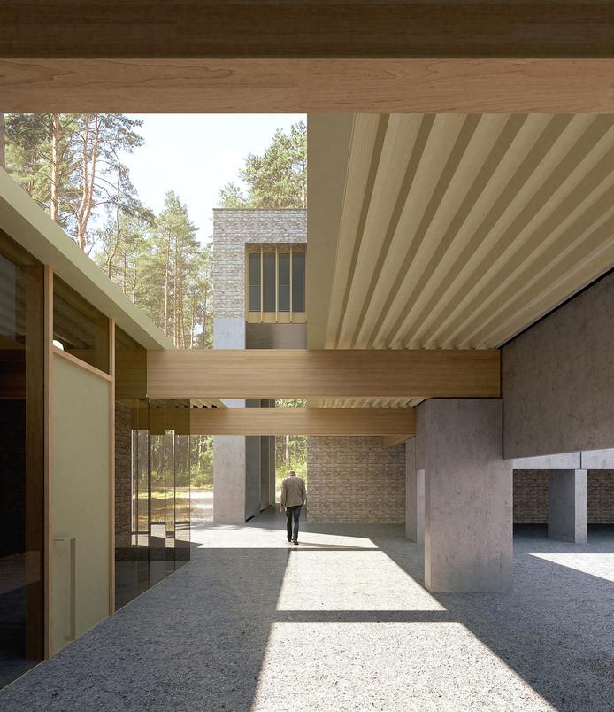 Een impressie van het nieuwe crematorium in Lommel