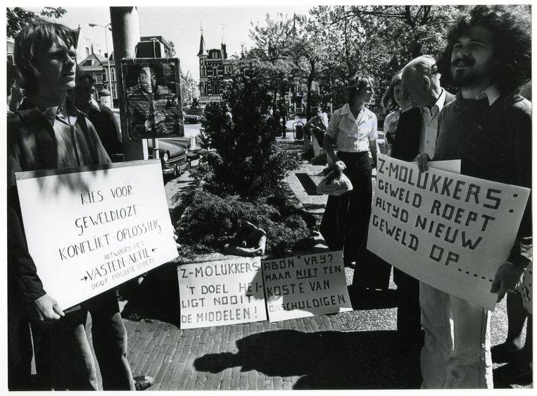 Demonstraties tegen de kapers. Beeld anp