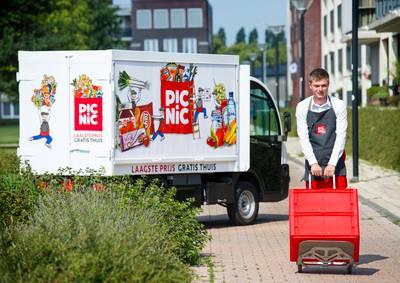 Online supermarkt Picnic gaat vanaf 9 mei boodschappen gratis bezorgen in Breda en Tilburg