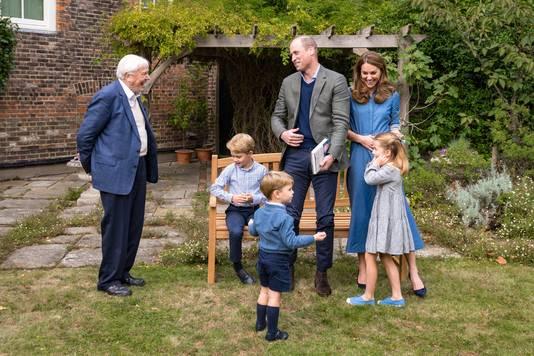 David Attenborough vond het erg leuk om vorige week ook prins George, prinses Charlotte en prins Louis te ontmoeten.