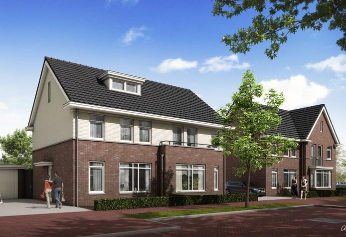 De woningen zoals die aan de Kattestart in Gemert moeten verrijzen.
